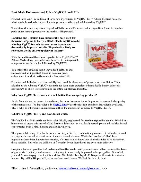 VigRX Plus Notice