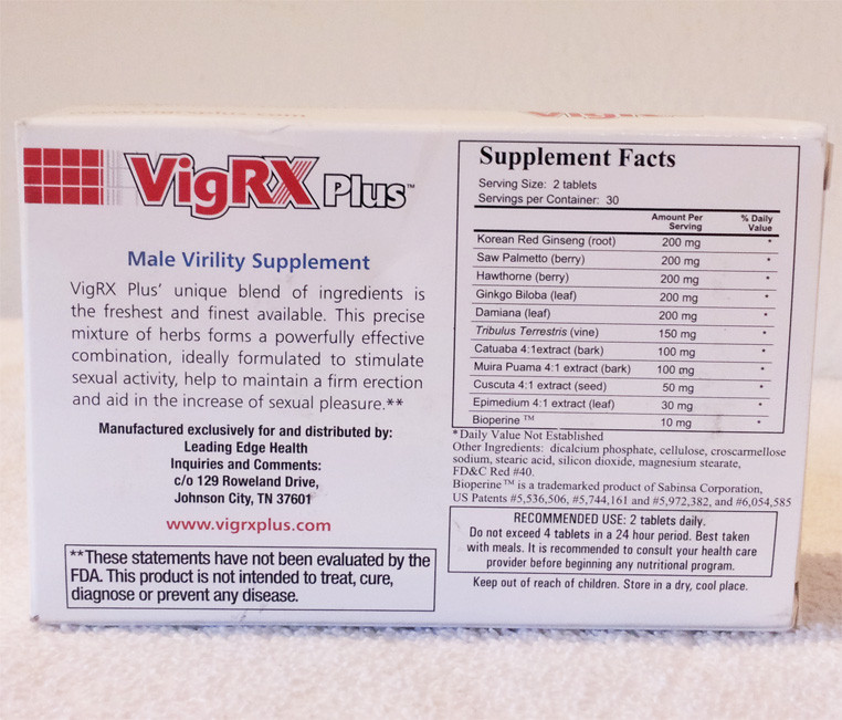 Side Effects VigRX Plus